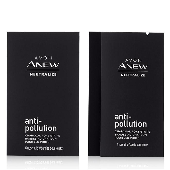 Anew Neutralize Anti-Pollution Charcoal Pore Strips
